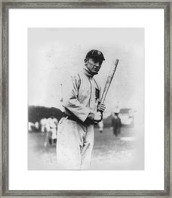 Ty Cobb Framed Print by Unknown
