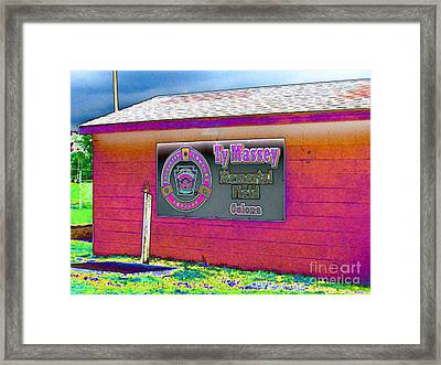 Ty Massey Memorial Colona Il Framed Print by Margaret Newcomb