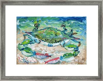 Tybee Blue Crab Mini Series Framed Print