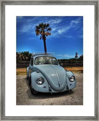 Tybee Island Beach Bug 002 Framed Print by Lance Vaughn