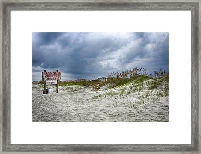 Tybee Island Framed Print by Donnie Smith