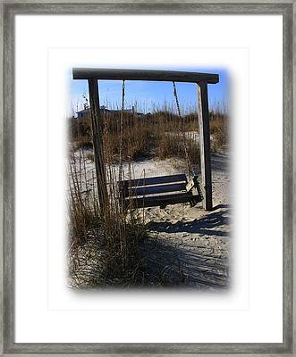 Framed Print featuring the photograph Tybee Island Georgia by Jacqueline M Lewis