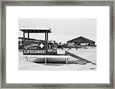 Tybee Island Lifeguard Stand Framed Print