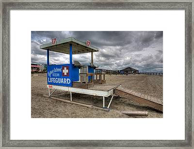 Tybee Island Lifeguard Stand Framed Print by Peter Tellone