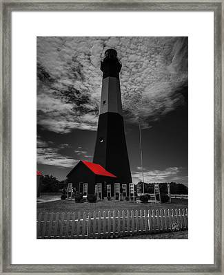 Tybee Island Light 001 Ck Framed Print by Lance Vaughn