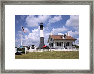 Framed Print featuring the photograph Tybee Island Light by Gordon Elwell