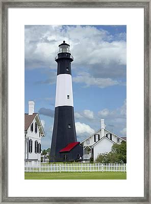 Tybee Island Light Framed Print by Mike McGlothlen