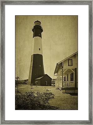 Tybee Island Light Station Framed Print by Priscilla Burgers