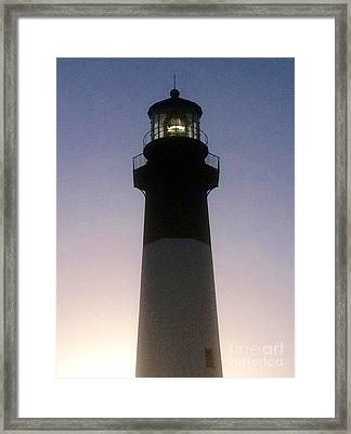 Tybee Island Lighthouse Framed Print by Barbara Chase