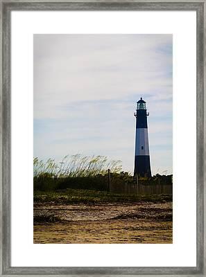 Tybee Island Lighthouse Framed Print by Jessica Brawley