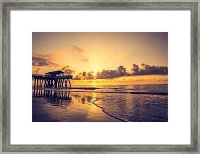 Tybee Island Pier Framed Print