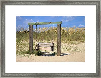 Framed Print featuring the photograph Tybee Island Swing by Gordon Elwell