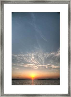 Tybee Sunset 2 Framed Print by Dem Wolfe