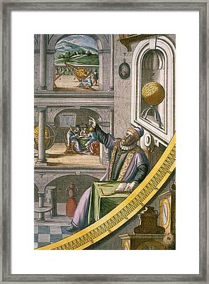 Tycho Brahe Framed Print by Joan Blaeu