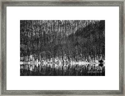 Tygart Valley River D30009161bw Framed Print by Kevin Funk