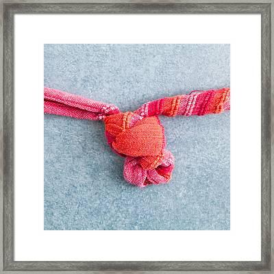 Tying A Knot Framed Print by Tom Gowanlock