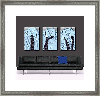 Tying One On - Men's Tie Art By Sharon Cummings Framed Print