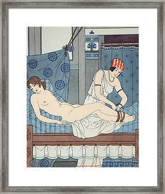 Tying The Legs Together Framed Print