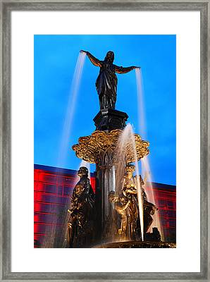 Tyler Davidson Fountain Framed Print by James Kirkikis