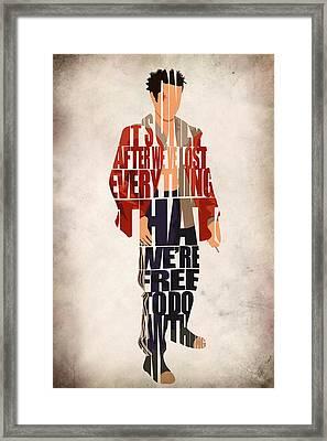 Tyler Durden Framed Print by Ayse Deniz