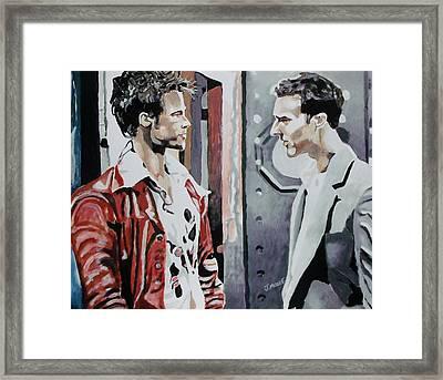 Tyler Durden Framed Print by Jeremy Moore
