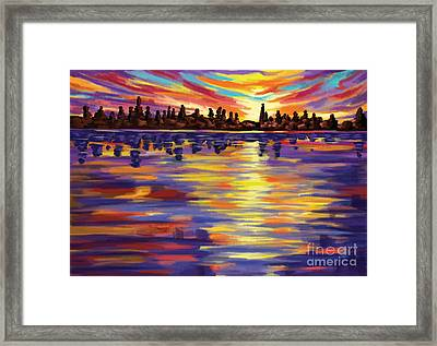 Framed Print featuring the painting Tyler's Sunrise by Tim Gilliland