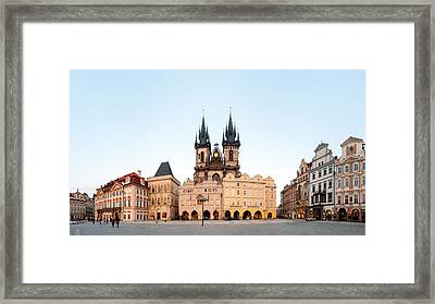 Tyn Cathedral On Old Town Square, Mala Framed Print