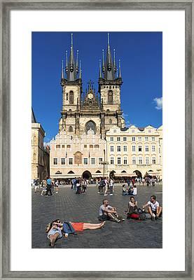 Tyn Church In Prague Czech Republic Europe Framed Print