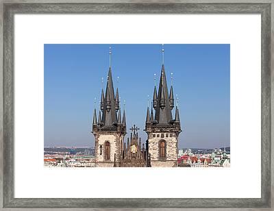 Tyn Church, Prague Old Town Square Framed Print