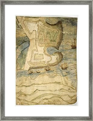 Tynemouth Castle Framed Print by British Library
