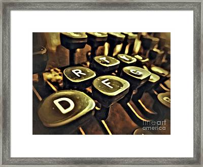 Type Framed Print
