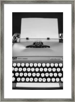 Type It Framed Print by Rebecca Cozart