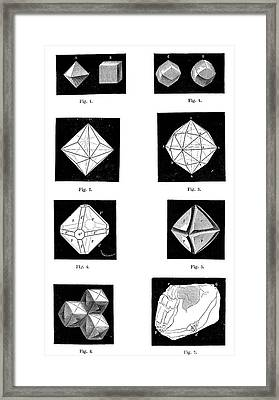 Types Of Diamonds Framed Print by Science Photo Library