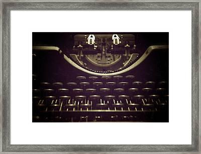 Typeset Framed Print by Brandon Addis