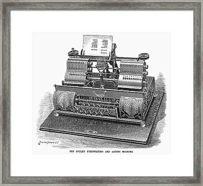 Typewriter, 1896 Framed Print by Granger