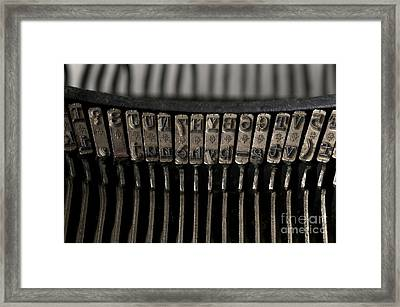 Typewriter Framed Print by Bernard Jaubert
