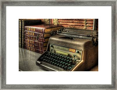 Typewriter Framed Print by David Morefield