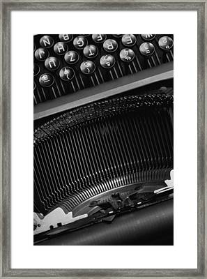 Typewriter  Framed Print by Falko Follert