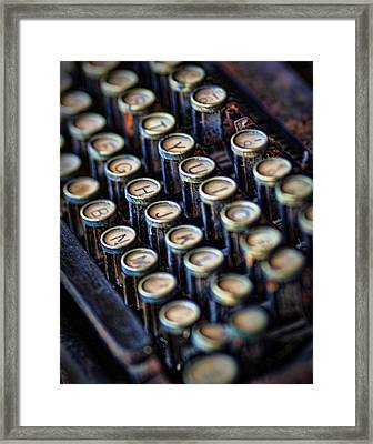 Typewriter Keys Framed Print by David and Carol Kelly