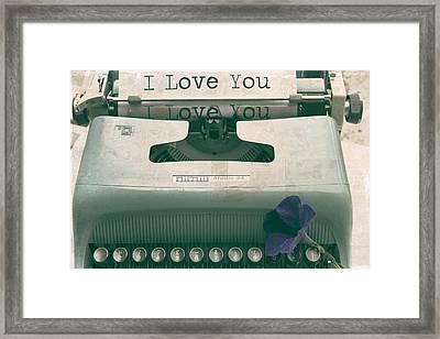 Typewriter Love Framed Print by Georgia Fowler