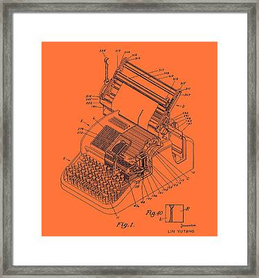 Typewriter Patent 1952 Framed Print by Mountain Dreams