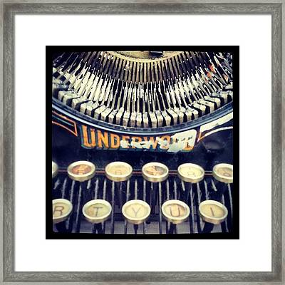 #typewriter #steampunk #writing Framed Print by Devin Muylle