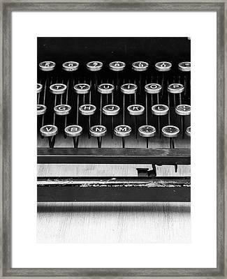 Typewriter Triptych Part 2 Framed Print by Edward Fielding
