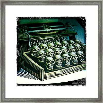 Typewriter With A Difference Framed Print by Nina Prommer