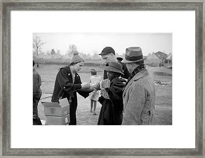 Typhoid Inoculation Framed Print by Library Of Congress