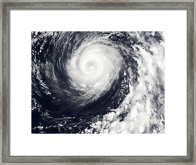 Typhoon 12w Framed Print by Nasa/science Photo Library