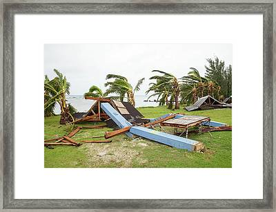 Typhoon Dolphin Aftermath Framed Print