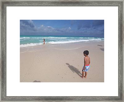 Typhoon In Boracay Framed Print by Timothy Lowry