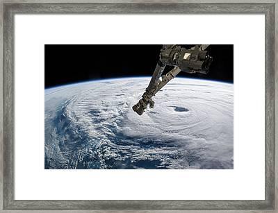 Typhoon Neoguri Framed Print by Nasa