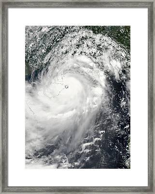 Typhoon Rammasun Framed Print by Nasa Goddard Modis Rapid Response Team